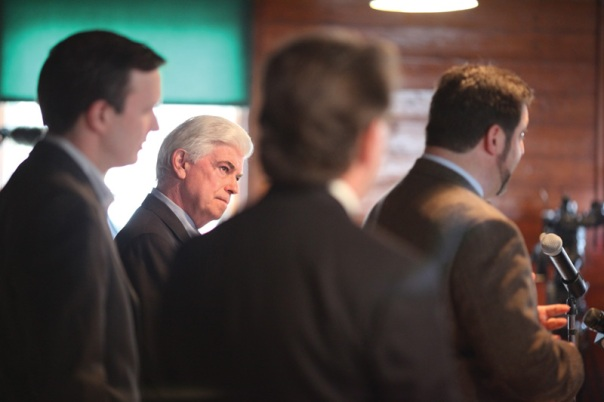 Senator Christopher Dodd(D-CT) at the Hill-Stead Museum to announce that President Barack Obama will sign into law, legislation to protect the Metacomet Monadnock Mattabesett Trail in Farmington, Connecticut.