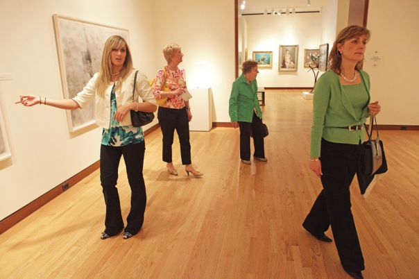Left to right, Marissa Haynes, of Berlin, with her aunt Liliane Desrochers of Bristol, grandmother Helen Adamus, of New Britain, and mother Maryann Haynes, of Berlin, tour the New Britain Museum of American Art, where on Mother's Day, moms got in for free. (5/10/09)